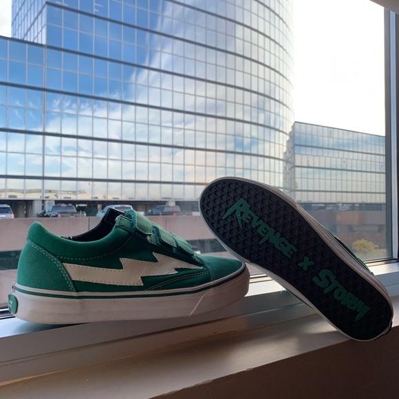Revenge X Storm Velcro Green Sneakers